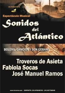 Cartel Espectáculo Sonidos del Atlántico (2010 - 2011).